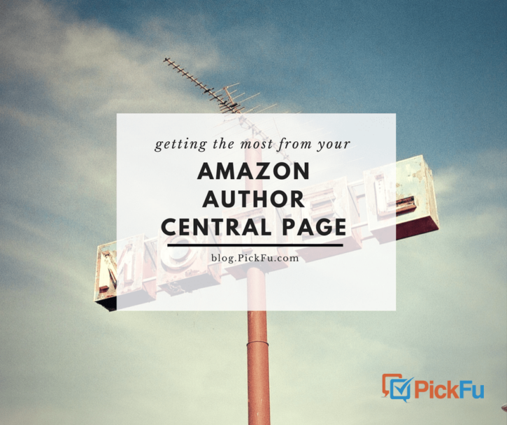 Amazon Author Central Page