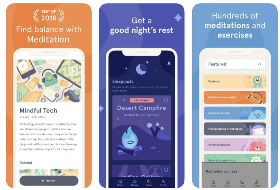 Designing App Store screenshots for a meditation app