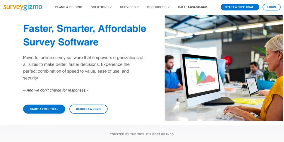 SurveyGizmo homepage