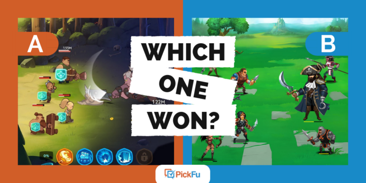 which one won pickfu mobile games