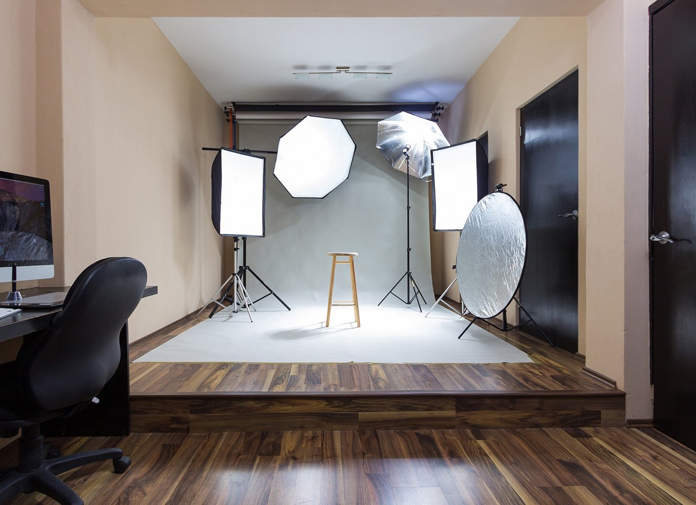home office photography studio lighting