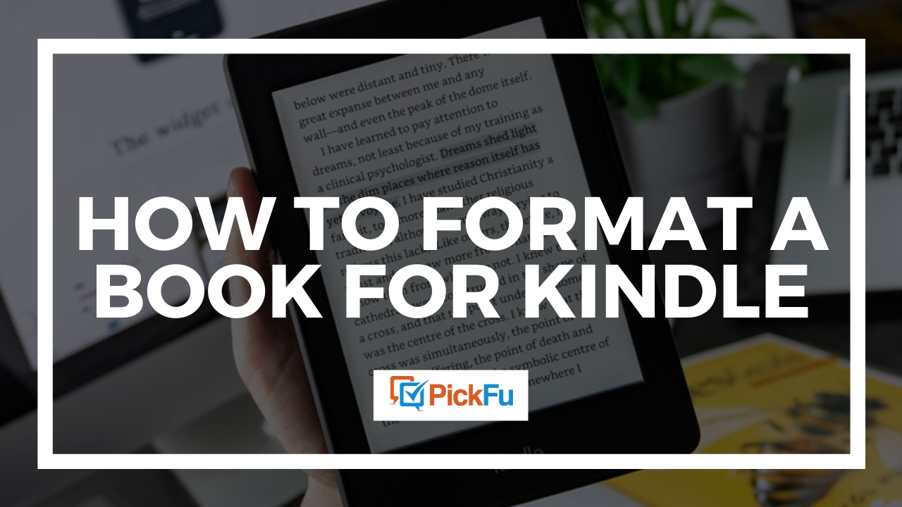 How to format a book for kindle, in three easy steps.
