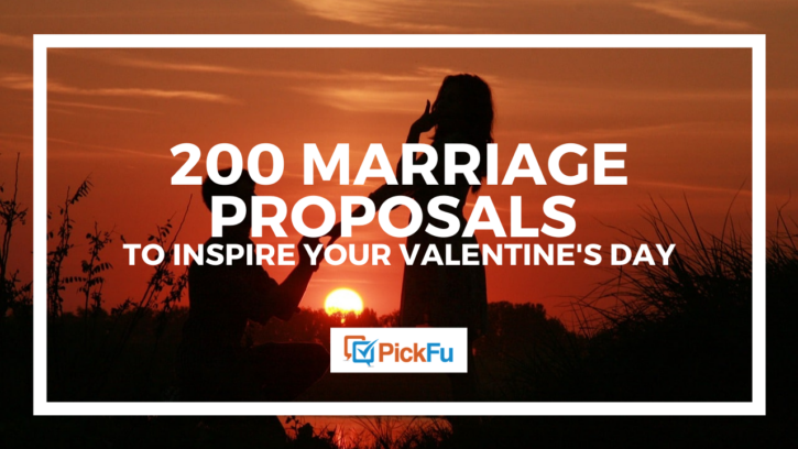200 marriage proposal stories to inspire your valentine's day