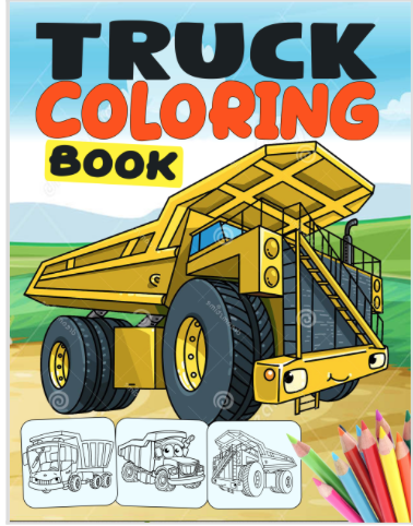 coloring book cover art - Option A