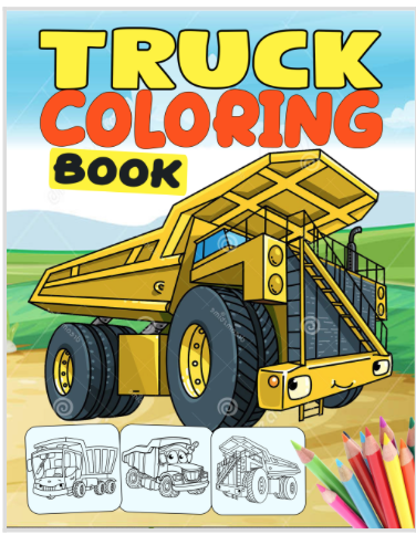coloring book cover art - Option B