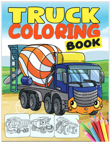 coloring book cover art - Option C