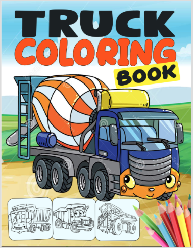 coloring book cover art - Option D