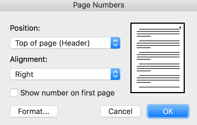 How to write a book in Word - Page Numbers