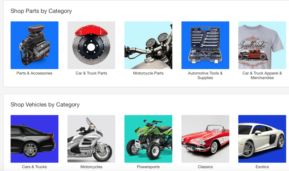 eBay product sourcing: Motors category