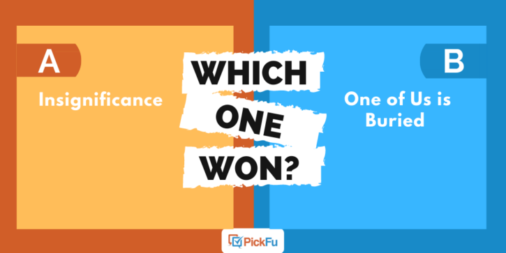 Which One Won: one word book title