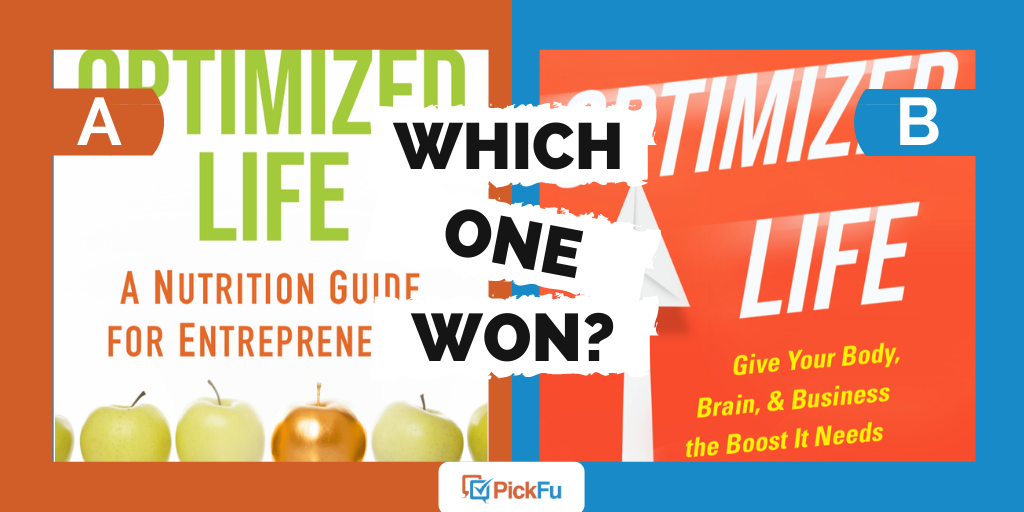 Which One Won: choosing a book cover for a nutrition guide for entrepreneurs