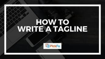 How to write a tagline