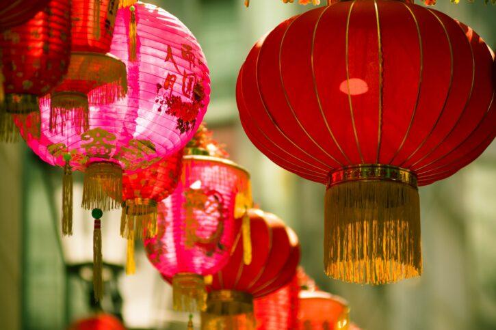 Lunar New Year: image of Chinese lanterns