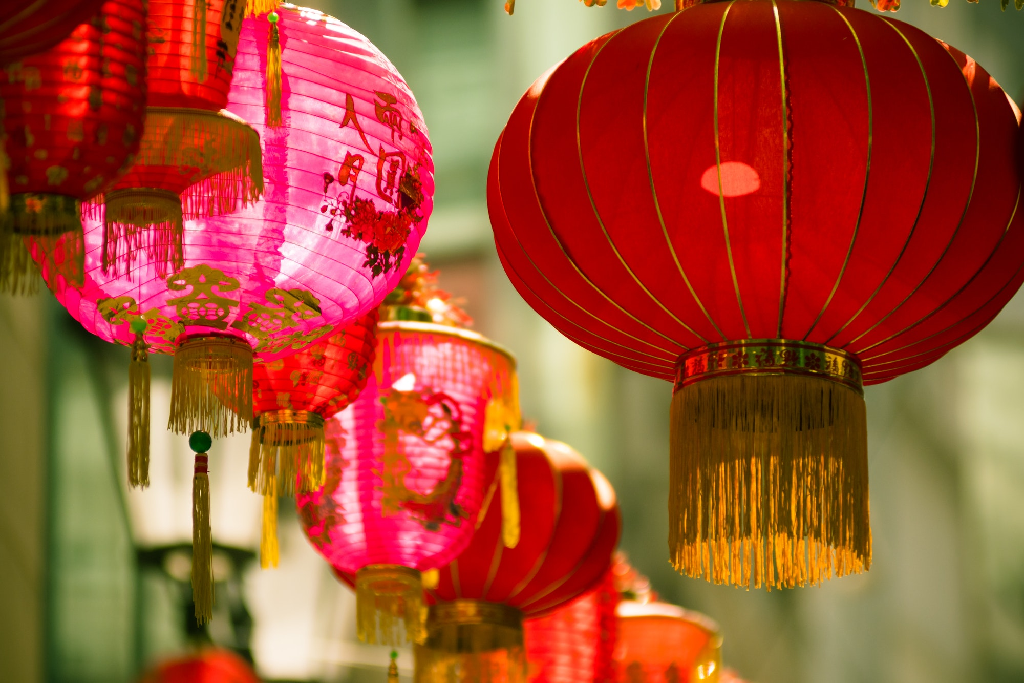 Lunar New Year: image of Chinese lanterns