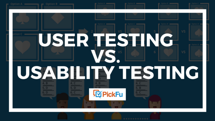user testing vs. usability testing