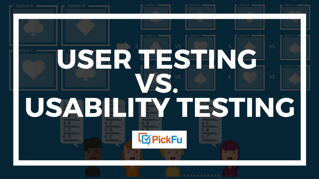 user testing vs. usability testing