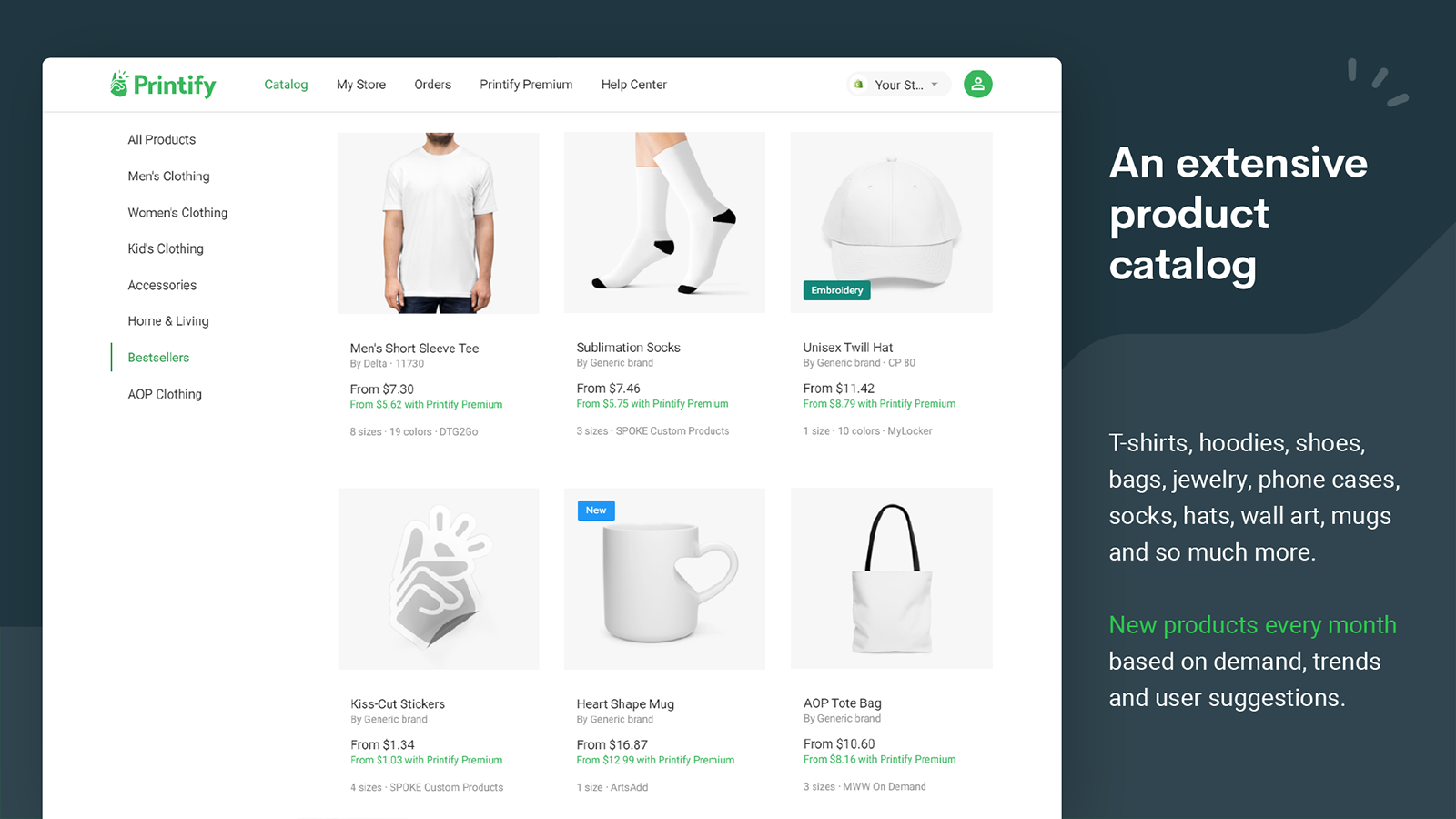 Print on demand for Shopify: Printify app screenshot