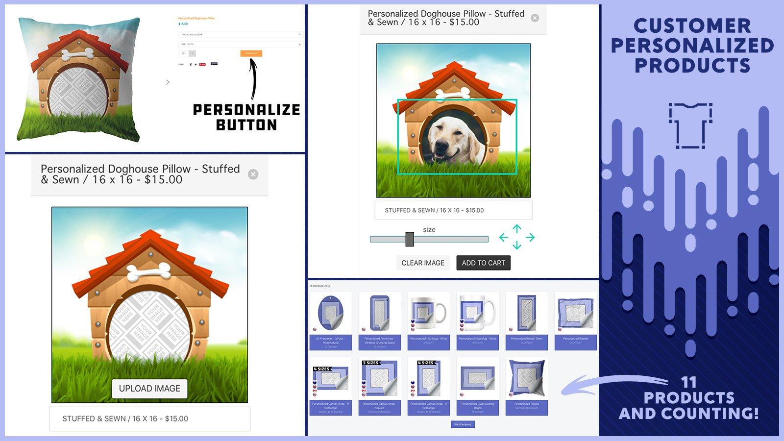 Print on demand for Shopify: teelaunch app screenshot