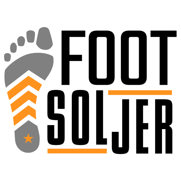 The winning logo design for the Foot Soljer insole.