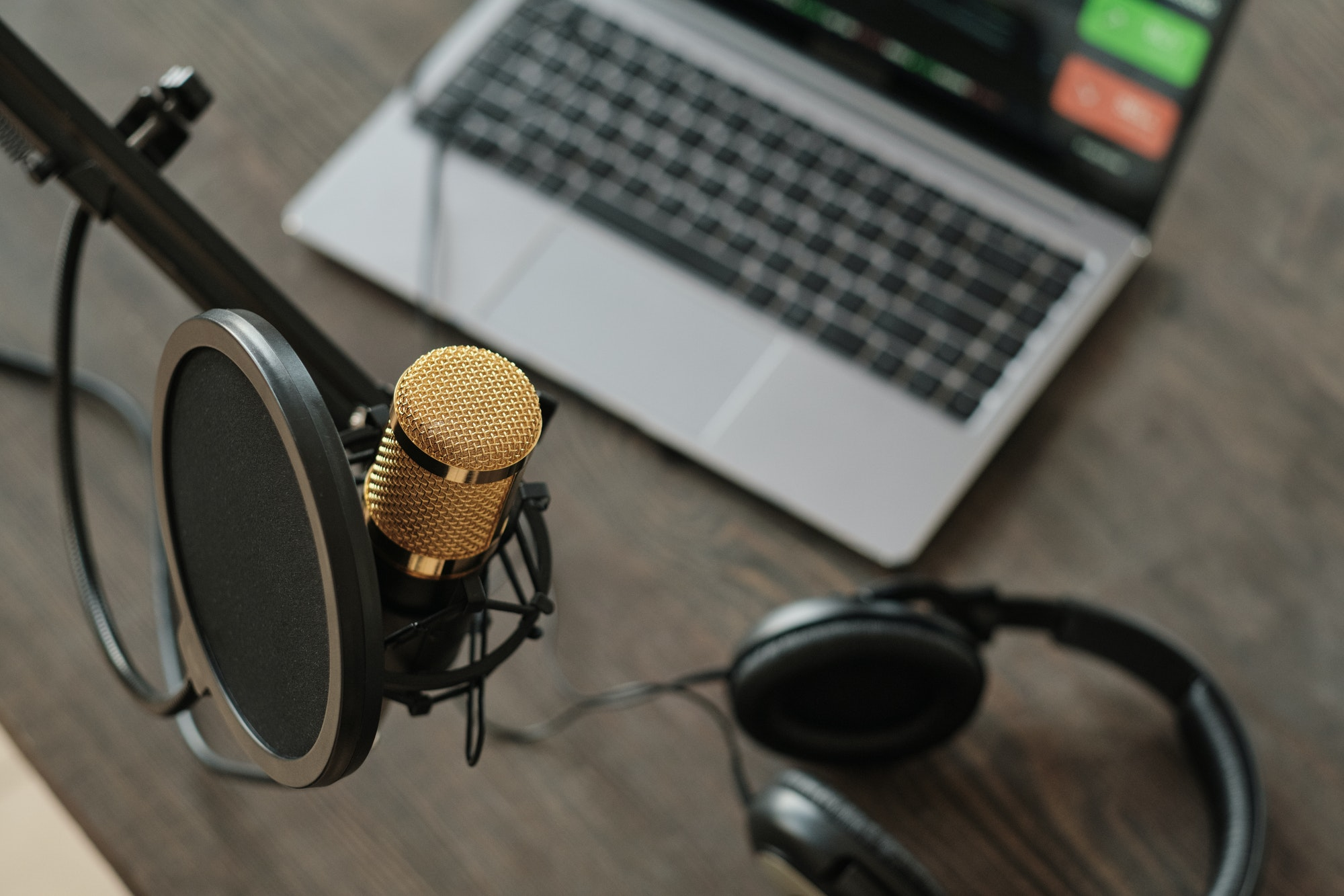 How to sell audiobooks: microphone in recording studio