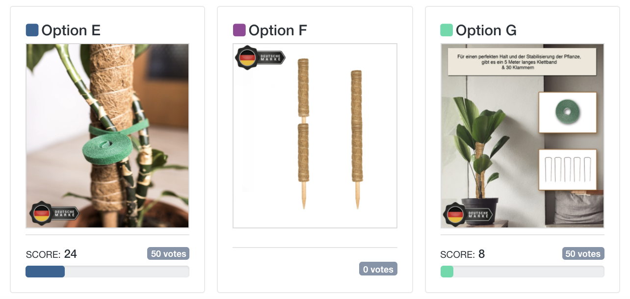 Which One Won: second set of gardening tools image test options