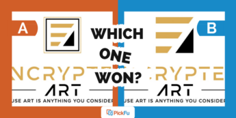 """A main image that shows two logos for a brand called """"Encrypted Art."""""""