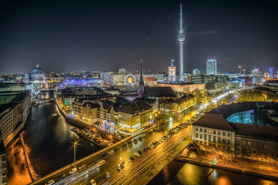 A cityscape featuring Berlin, Germany.