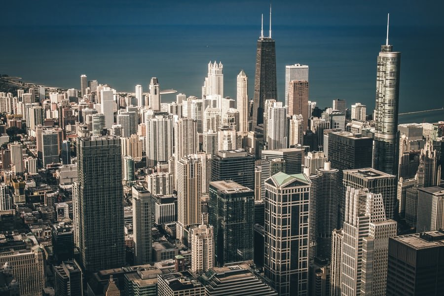 Image showing the Chicago cityscape by Lake Michigan.