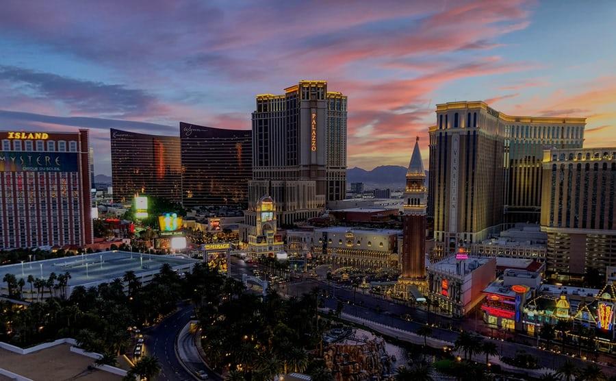 A cityscape scene showing Las Vegas, Nevada.