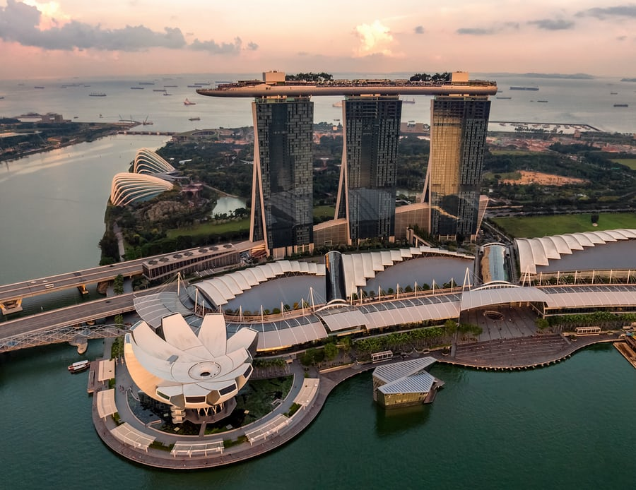 An image showing buildings in Singapore.