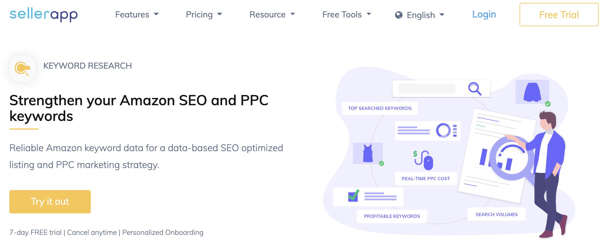 SellerApp, one of the best Amazon PPC tools