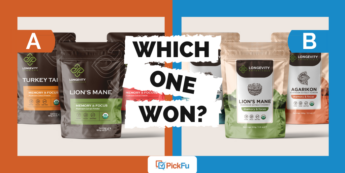 Which One Won: packaging design poll for a mushroom extract powder