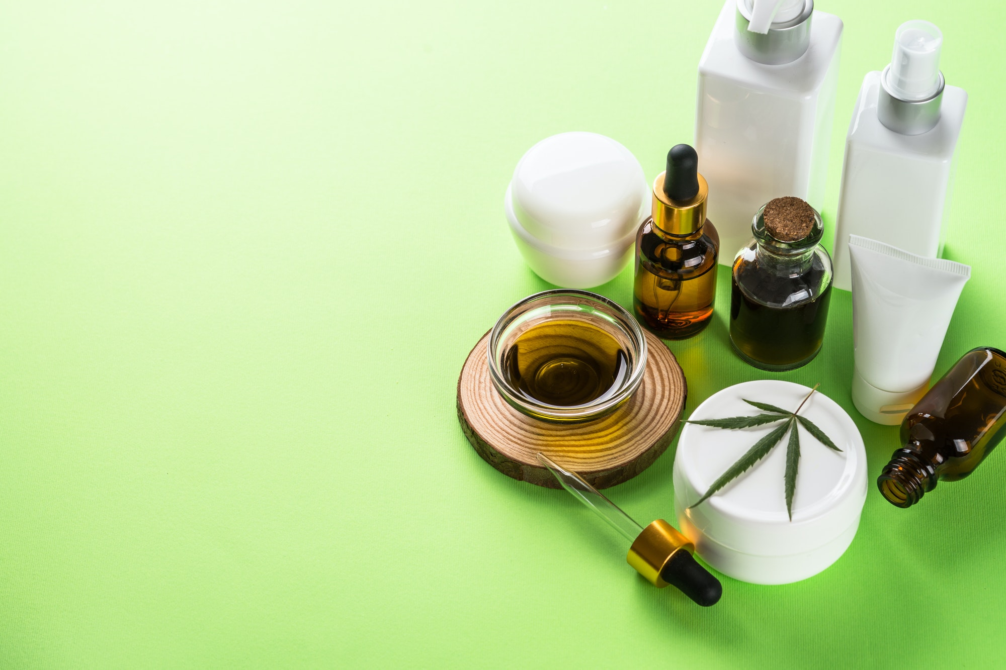 E-commerce business valuation: close-up of cannabis cosmetic products