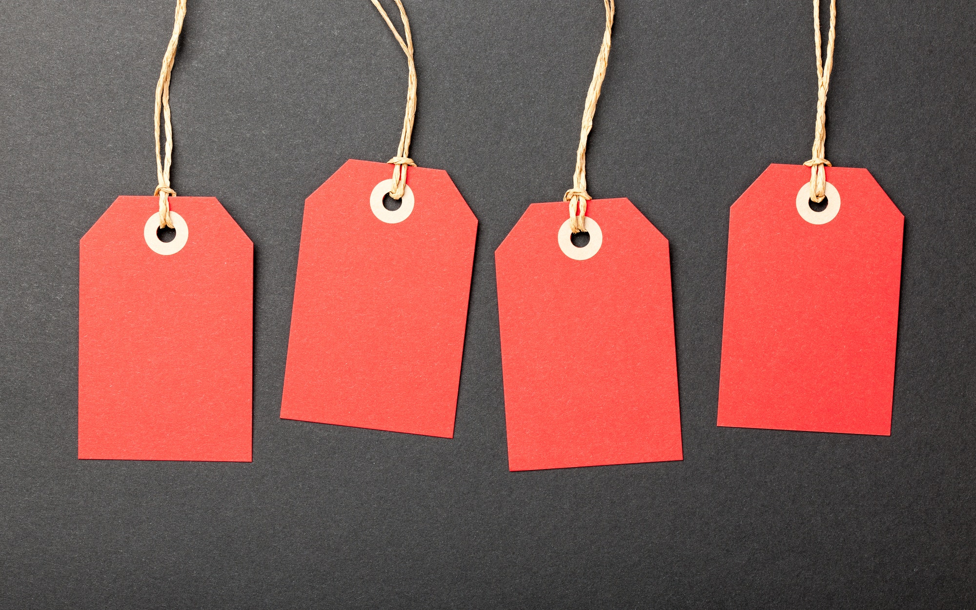 Top tips to selling on eBay: blank price tags